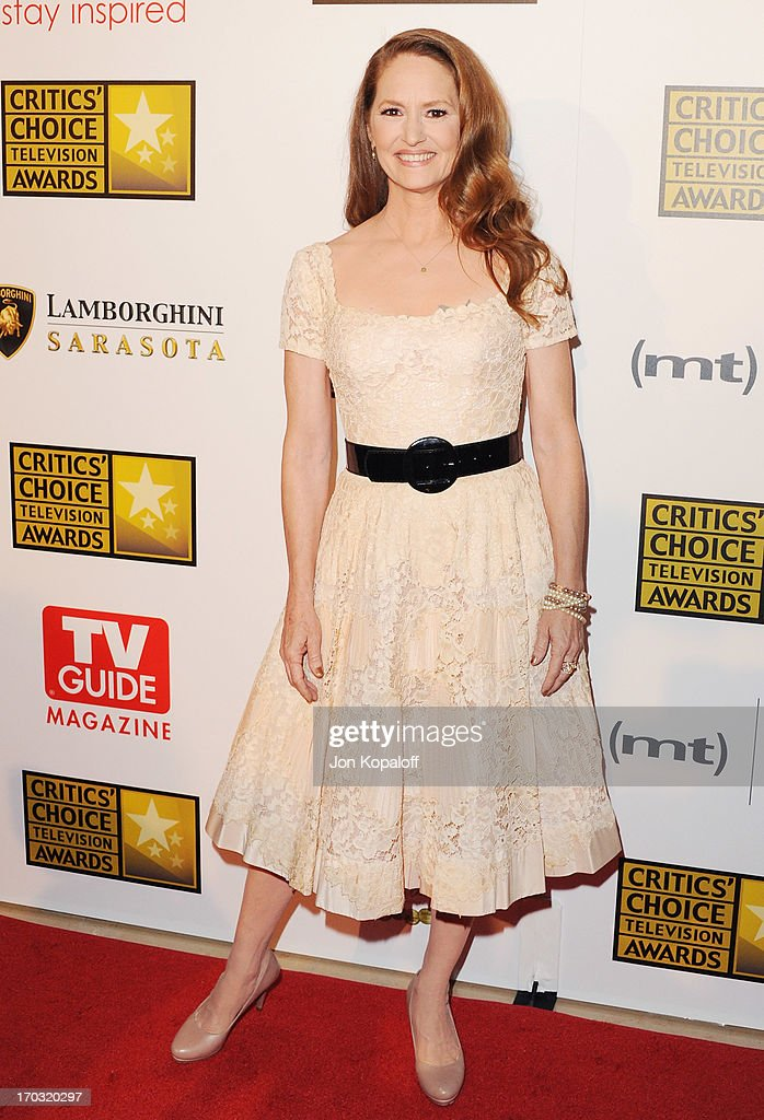Actress <a gi-track='captionPersonalityLinkClicked' href=/galleries/search?phrase=Melissa+Leo&family=editorial&specificpeople=2083907 ng-click='$event.stopPropagation()'>Melissa Leo</a> arrives at the BTJA Critics' Choice Television Award at The Beverly Hilton Hotel on June 10, 2013 in Beverly Hills, California.