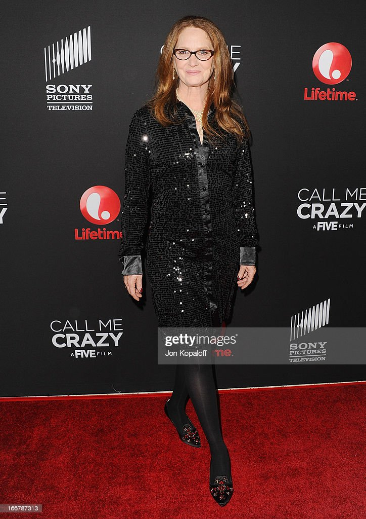 Actress Melissa Leo arrives at the Los Angeles Premiere 'Call Me Crazy: A Five Film' at Pacific Design Center on April 16, 2013 in West Hollywood, California.