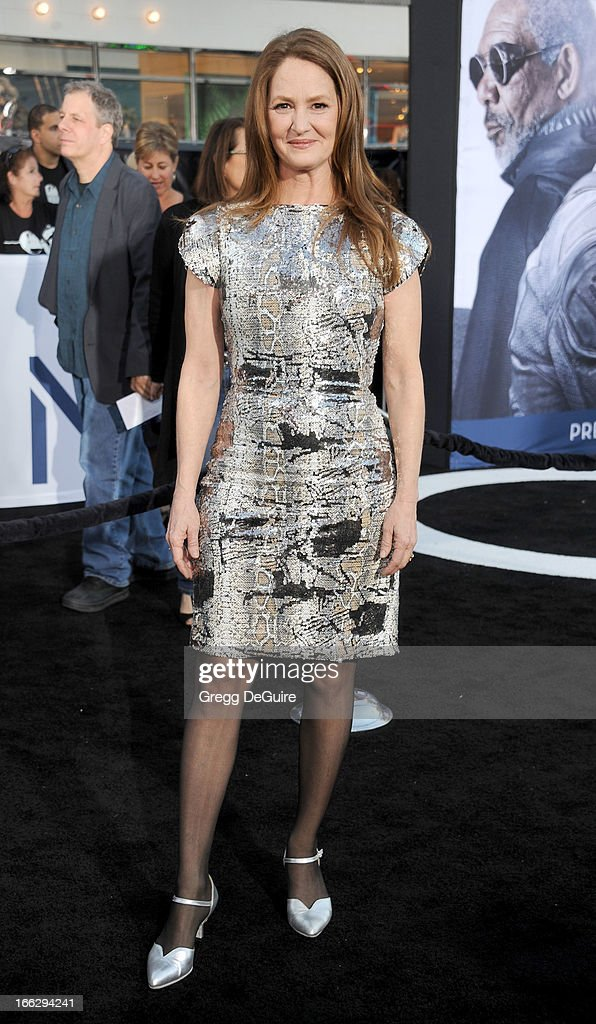 Actress Melissa Leo arrives at the Los Angeles premiere of 'Oblivion' at Dolby Theatre on April 10, 2013 in Hollywood, California.