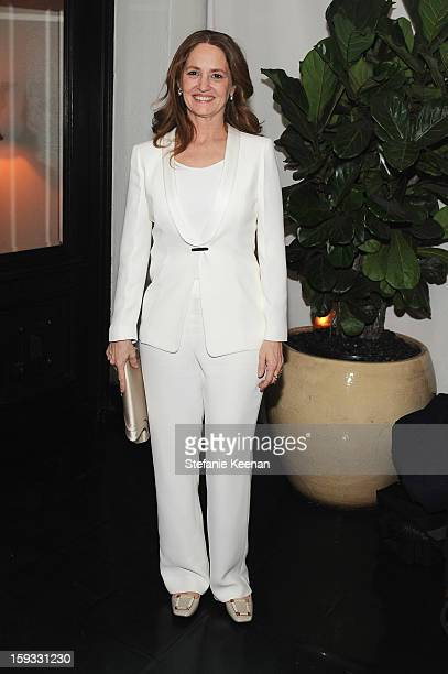 Actress Melissa Leo attends Dom Perignon and W Magazine's celebration of The Golden Globes at Chateau Marmont on January 11 2013 in Los Angeles...