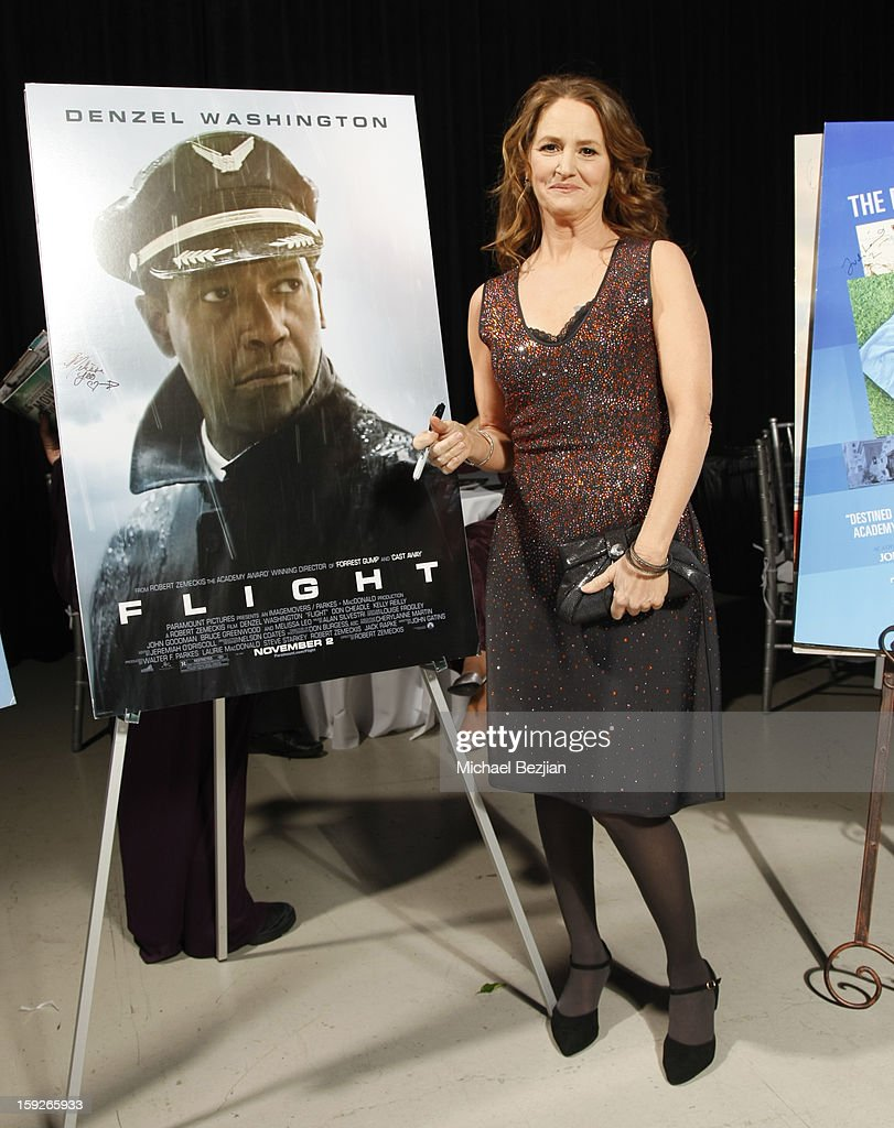 Actress Melissa Leo attends the poster signing event for charity during the Critics' Choice Movie Awards 2013 at Barkar Hangar on January 10, 2013 in Santa Monica, California.