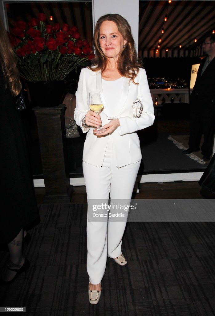 """Actress <a gi-track='captionPersonalityLinkClicked' href=/galleries/search?phrase=Melissa+Leo&family=editorial&specificpeople=2083907 ng-click='$event.stopPropagation()'>Melissa Leo</a> attends W Magazine's 'Best Performances Issue"""" and the Golden Globe Awards celebration with W Magazine, Cadillac and Dom Pérignon at Chateau Marmont on January 11, 2013 in Los Angeles, California."""