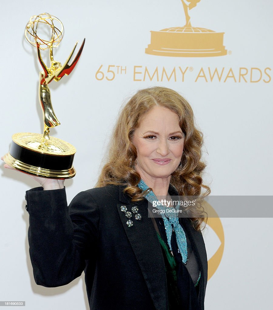 Actress <a gi-track='captionPersonalityLinkClicked' href=/galleries/search?phrase=Melissa+Leo&family=editorial&specificpeople=2083907 ng-click='$event.stopPropagation()'>Melissa Leo</a> poses in the press room at the 65th Annual Primetime Emmy Awards at Nokia Theatre L.A. Live on September 22, 2013 in Los Angeles, California.