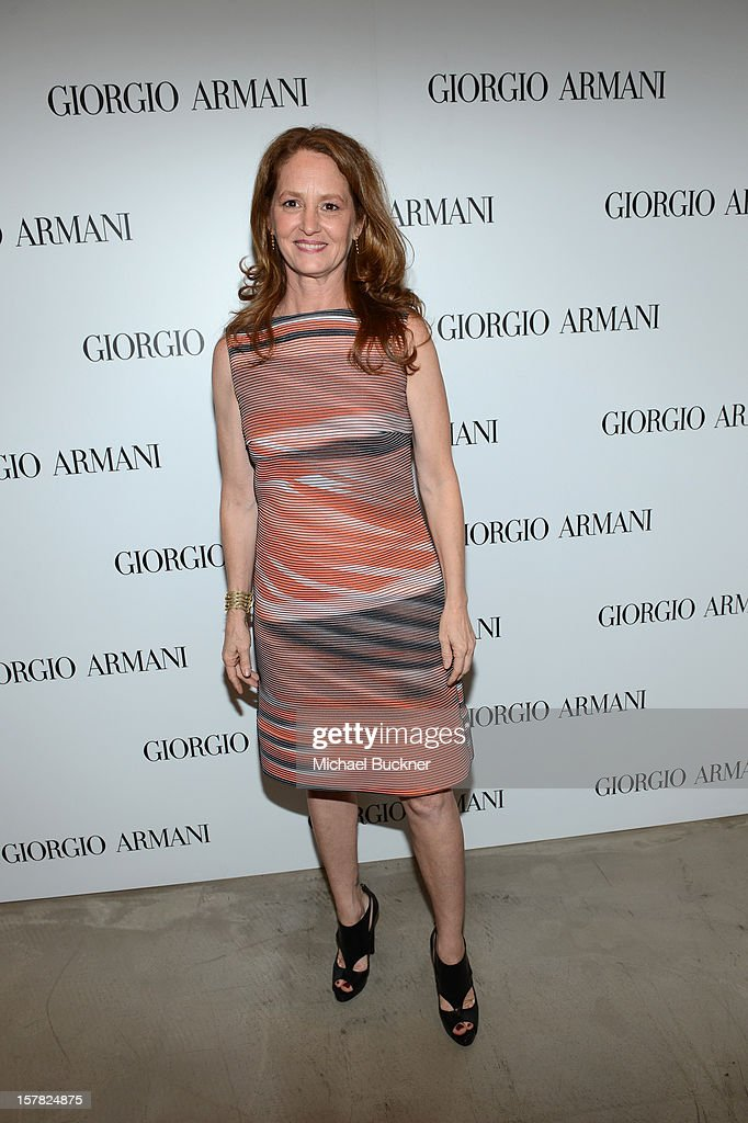 Actress Melissa Leo, wearing Giorgio Armani attends the Giorgio Armani Beauty Luncheon on December 6, 2012 in Beverly Hills, California.