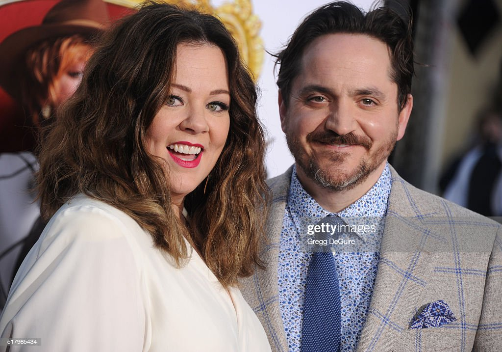 Actress Melissa McCarthy and husband Ben Falcone arrive at the premiere of USA Pictures' 'The Boss' at Regency Village Theatre on March 28 2016 in...