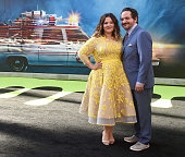 Actress Melissa McCarthy and husband Ben Falcone arrive at the premiere of Sony Pictures' 'Ghostbusters' at TCL Chinese Theatre on July 9 2016 in...