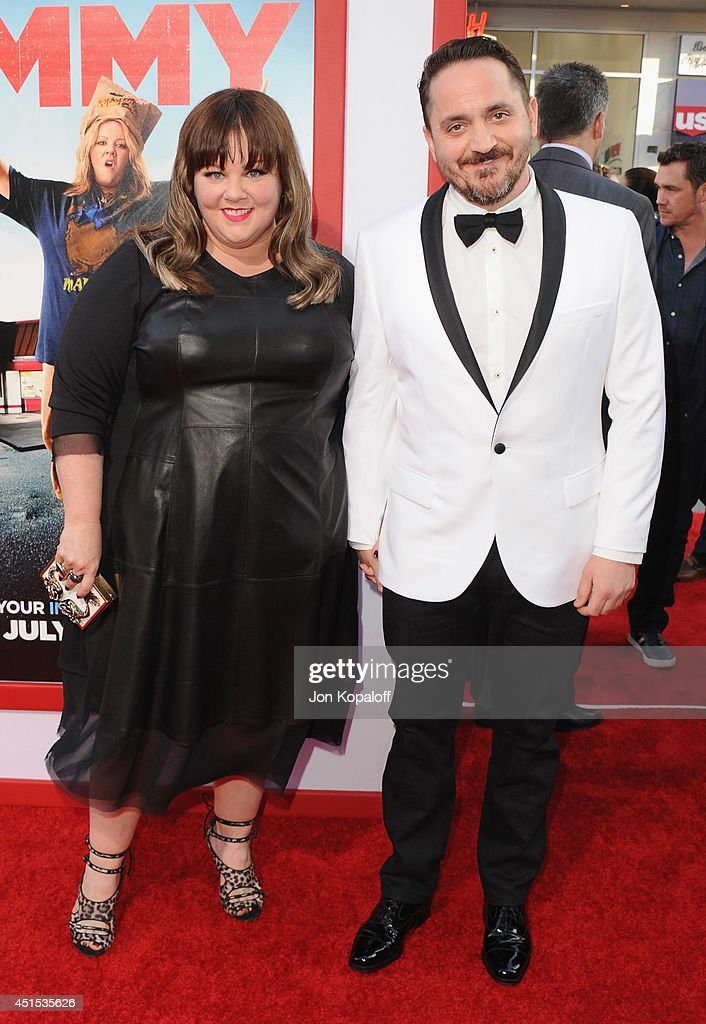 Actress <a gi-track='captionPersonalityLinkClicked' href=/galleries/search?phrase=Melissa+McCarthy&family=editorial&specificpeople=880291 ng-click='$event.stopPropagation()'>Melissa McCarthy</a> and husband director <a gi-track='captionPersonalityLinkClicked' href=/galleries/search?phrase=Ben+Falcone&family=editorial&specificpeople=4068633 ng-click='$event.stopPropagation()'>Ben Falcone</a> arrive at the Los Angeles Premiere 'Tammy' at TCL Chinese Theatre on June 30, 2014 in Hollywood, California.