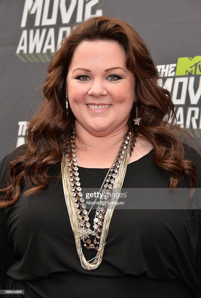 Actress Melissa McCarthy arrives at the 2013 MTV Movie Awards at Sony Pictures Studios on April 14, 2013 in Culver City, California.