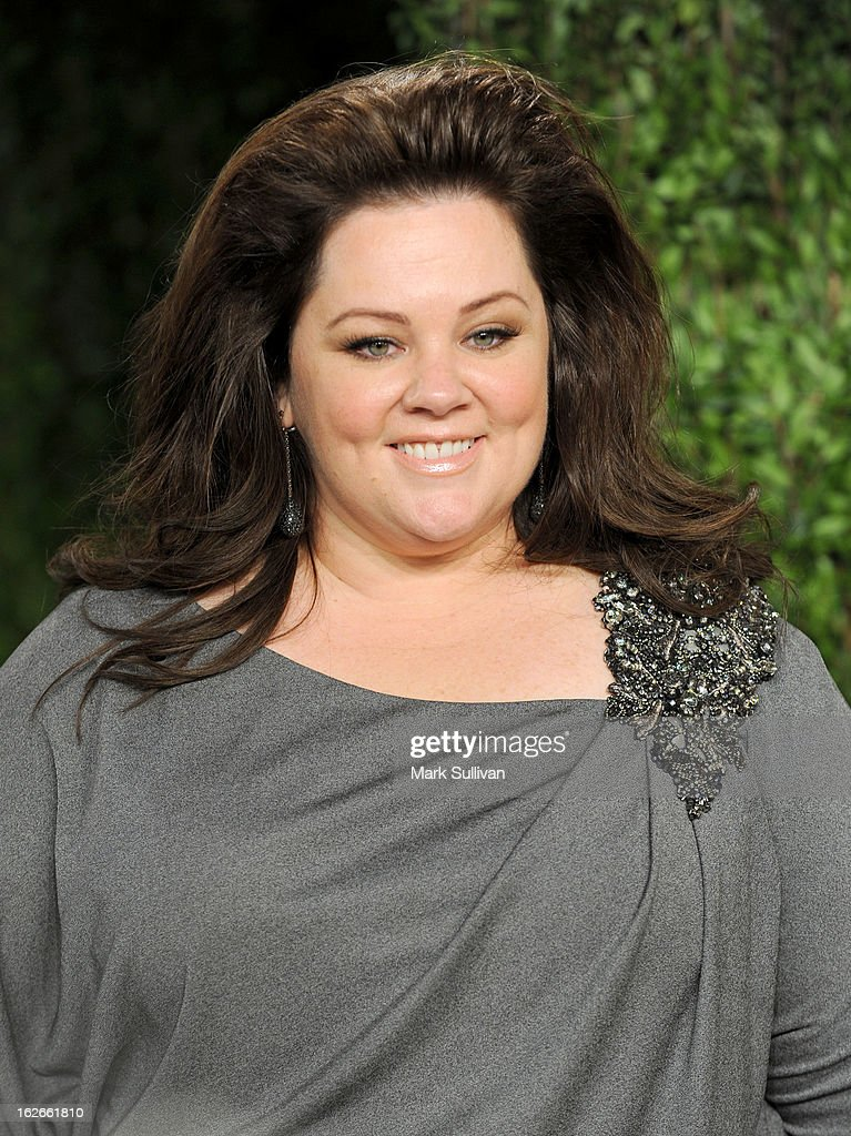 Actress Melissa McCarthy arrives at the 2013 Vanity Fair Oscar Party at Sunset Tower on February 24, 2013 in West Hollywood, California.