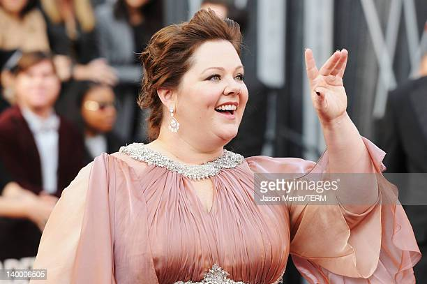 Actress Melissa McCarthy arrives at the 84th Annual Academy Awards held at the Hollywood Highland Center on February 26 2012 in Hollywood California