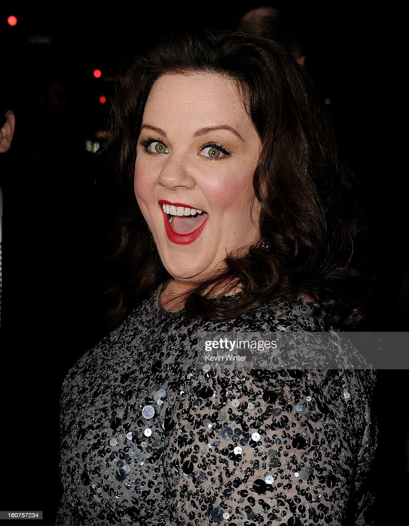 Actress Melissa McCarthy arrives at the premiere of Universal Pictures' 'Identity Thief' at the Village Theatre on February 4, 2013 in Los Angeles, California.