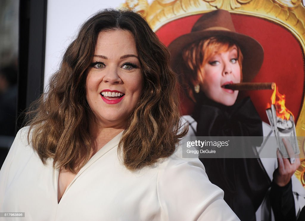 Actress Melissa McCarthy arrives at the premiere of USA Pictures' 'The Boss' at Regency Village Theatre on March 28 2016 in Westwood California