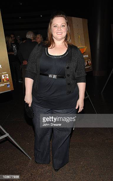Actress Melissa McCarthy arrives to the premiere of 'Just Add Water' at the Directors Guild of America on March 18 2008 in Hollywood California