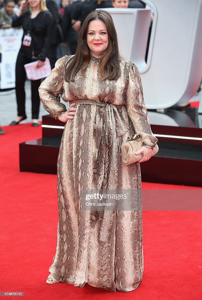 Actress Melissa McCarthy attend the UK Premiere of 'Spy' at Odeon Leicester Square on May 27 2015 in London England