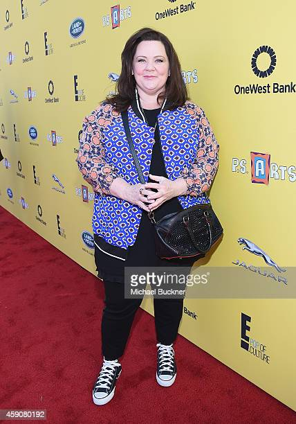Actress Melissa McCarthy attends PS ARTS presents Express Yourself 2014 with sponsors OneWest Bank and Jaguar Land Rover at Barker Hangar on November...
