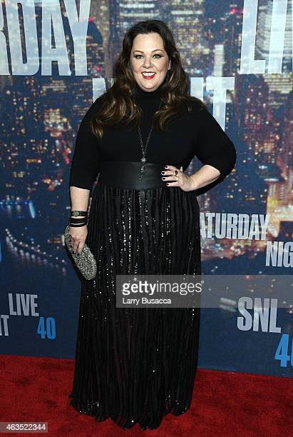 Actress Melissa McCarthy attends SNL 40th Anniversary Celebration at Rockefeller Plaza on February 15 2015 in New York City