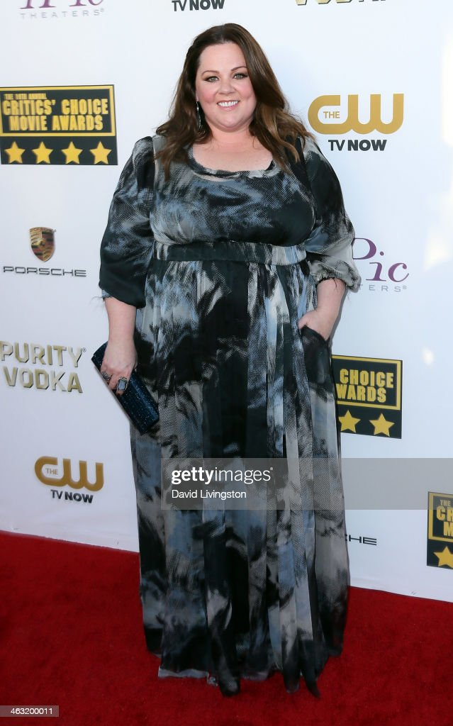 Actress Melissa McCarthy attends the 19th Annual Critics' Choice Movie Awards at Barker Hangar on January 16, 2014 in Santa Monica, California.
