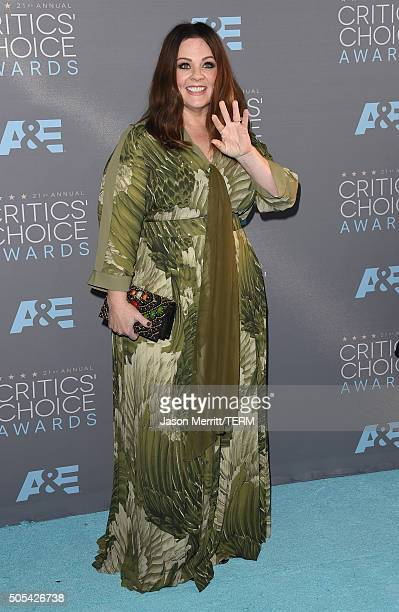 Actress Melissa McCarthy attends the 21st Annual Critics' Choice Awards at Barker Hangar on January 17 2016 in Santa Monica California