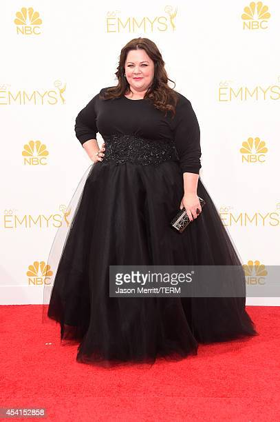 Actress Melissa McCarthy attends the 66th Annual Primetime Emmy Awards held at Nokia Theatre LA Live on August 25 2014 in Los Angeles California