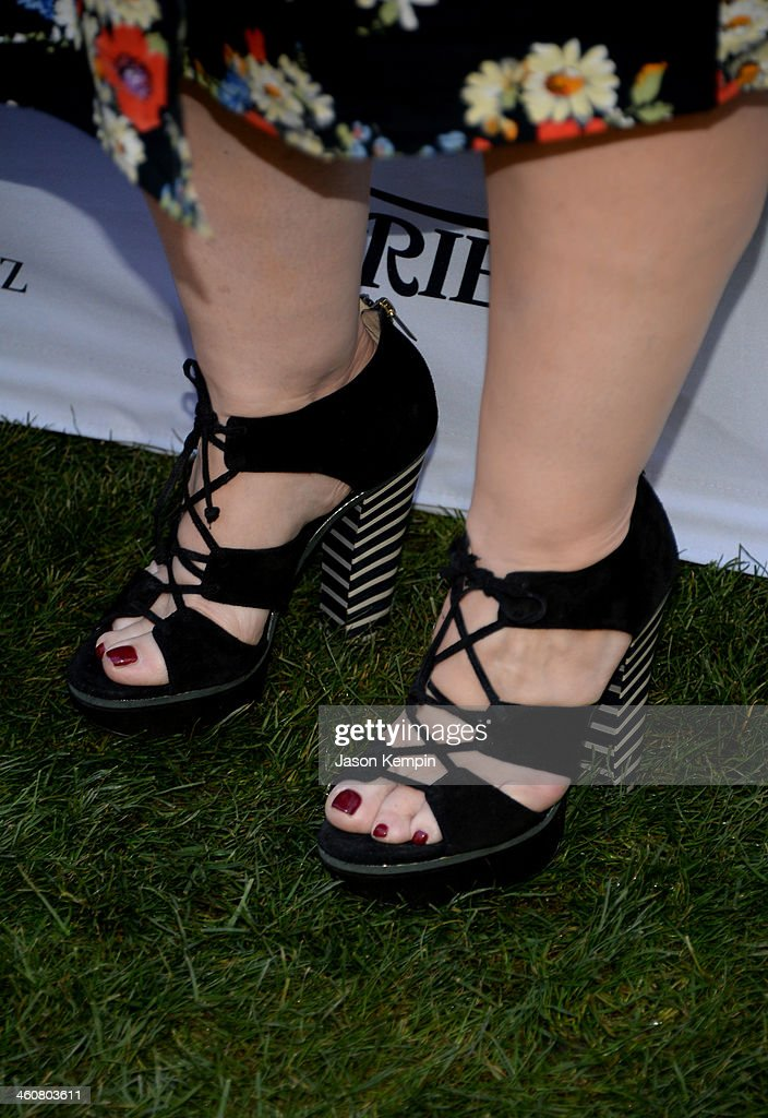 Actress Melissa McCarthy (shoe detail) attends Variety's Creative Impact Awards and 10 Directors to Watch brunch presented by Mercedes-Benz at The 25th Annual Palm Springs International Film Festival at Parker Palm Springs on January 5, 2014 in Palm Springs, California.