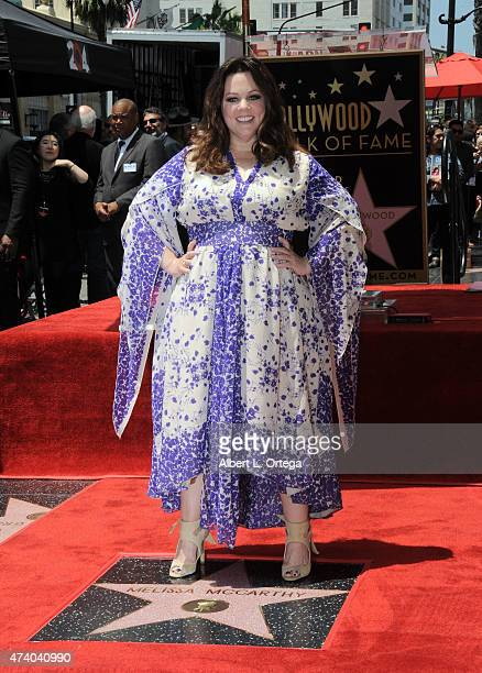 Actress Melissa McCarthy Honored On The Hollywood Walk Of Fame on May 19 2015 in Hollywood California