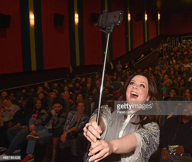 Actress Melissa McCarthy introduces special 'Spy' screening at Regal Atlantic Station on March 30 2015 in Atlanta Georgia SPY opens nationwide on...