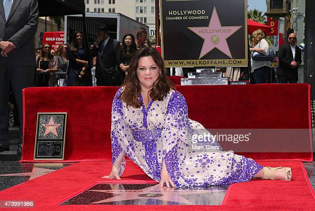 Actress Melissa McCarthy is honored with a star on the Hollywood Walk Of Fame on May 19 2015 in Hollywood California