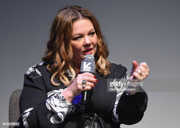 Actress Melissa McCarthy takes part in a QA following the 'Nobodies' premiere during 2017 SXSW Conference and Festivals at the ZACH Theatre on March...