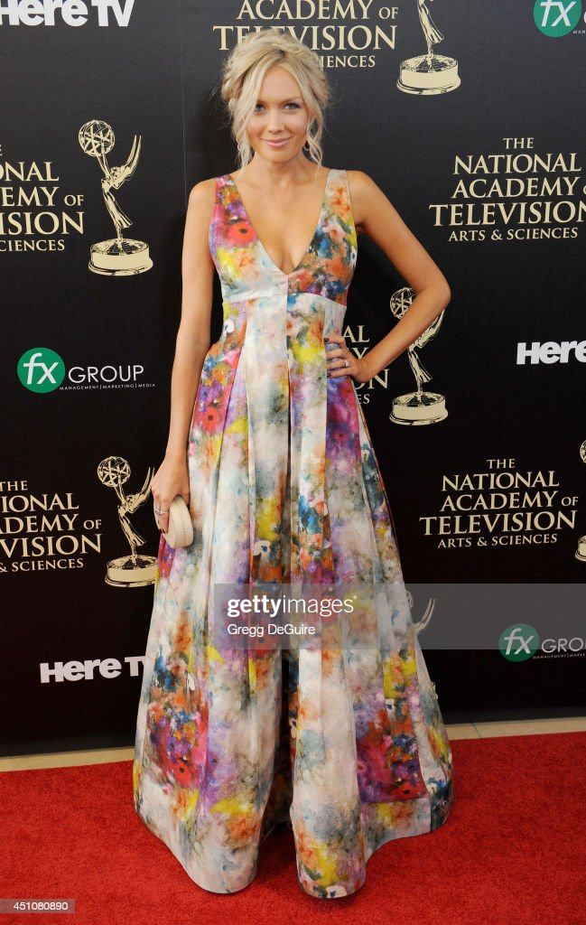 Actress <a gi-track='captionPersonalityLinkClicked' href=/galleries/search?phrase=Melissa+Ordway&family=editorial&specificpeople=5132902 ng-click='$event.stopPropagation()'>Melissa Ordway</a> arrives at the 41st Annual Daytime Emmy Awards at The Beverly Hilton Hotel on June 22, 2014 in Beverly Hills, California.