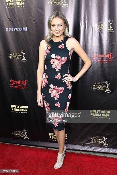 Actress Melissa Ordway attends the 2016 Daytime Emmy Awards Nominees Reception Arrivals at The Hollywood Museum on April 27 2016 in Hollywood...