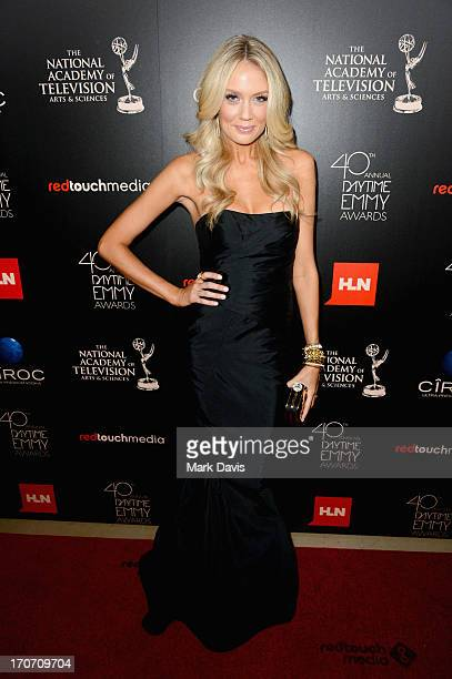 Actress Melissa Ordway attends The 40th Annual Daytime Emmy Awards at The Beverly Hilton Hotel on June 16 2013 in Beverly Hills California