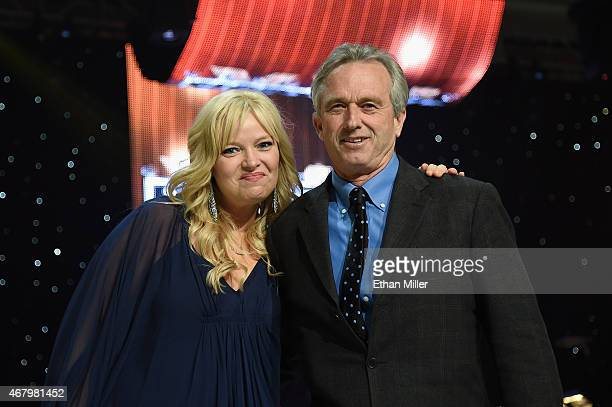 Actress Melissa Peterman and Robert F Kennedy Jr onstage during Muhammad Ali's Celebrity Fight Night XXI at the Jw Marriott Phoenix Desert Ridge...