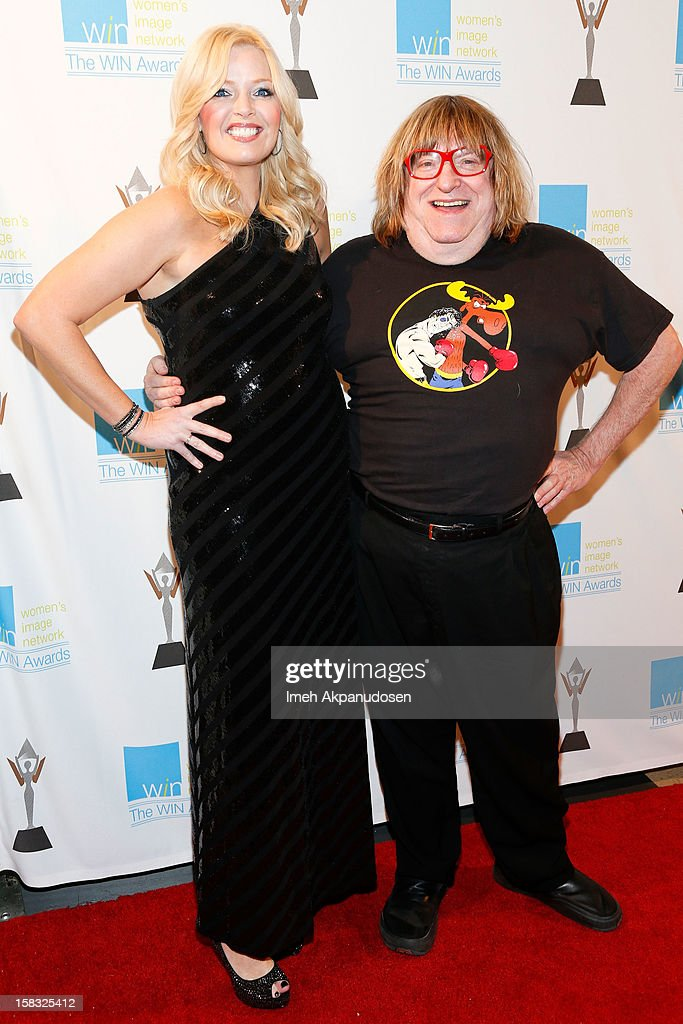 Actress Melissa Peterman (L) and writer Bruce Vilanch attend the 14th Annual Women's Image Network Awards at Paramount Theater on the Paramount Studios lot on December 12, 2012 in Hollywood, California.