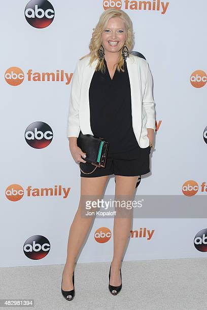 Actress Melissa Peterman arrives at Disney ABC Television Group's 2015 TCA Summer Press Tour at the Beverly Hilton Hotel on August 4 2015 in Beverly...