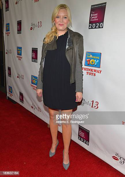 Actress Melissa Peterman attends The National Breast Cancer Coalition Fund presents The 13th Annual Les Girls at the Avalon on October 7 2013 in...
