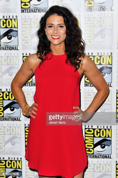 Actress Melissa Ponzio attends 'Teenwolf' press line at Comic Con on July 21 2017 in San Diego California