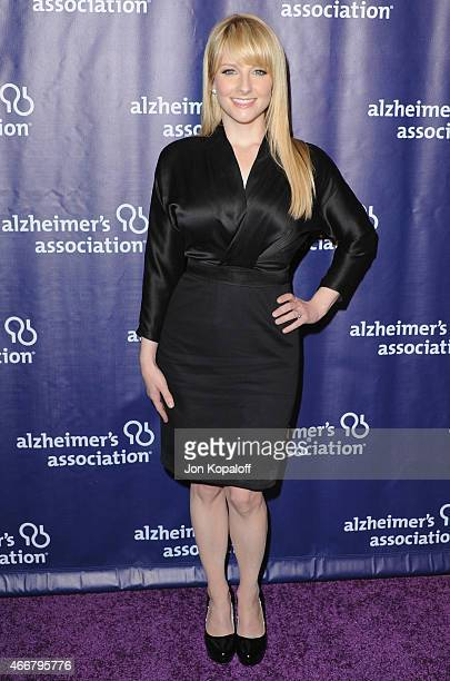 Actress Melissa Rauch arrives at the 23rd Annual 'A Night At Sardi's' To Benefit The Alzheimer's Association at The Beverly Hilton Hotel on March 18...