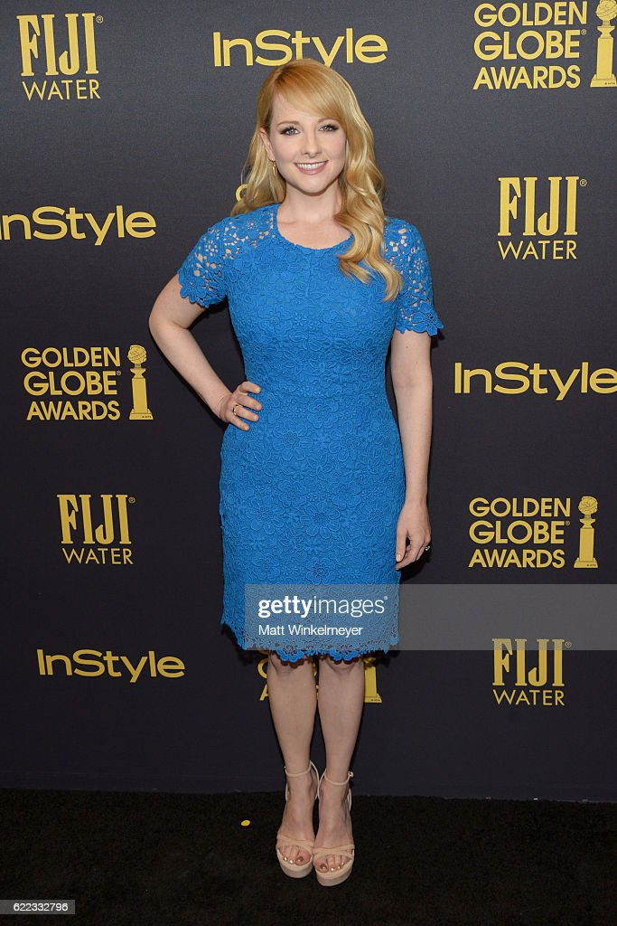 Actress Melissa Rauch arrives at the Hollywood Foreign Press Association and InStyle celebrate the 2017 Golden Globe Award Season at Catch LA on November 10, 2016 in West Hollywood, California.