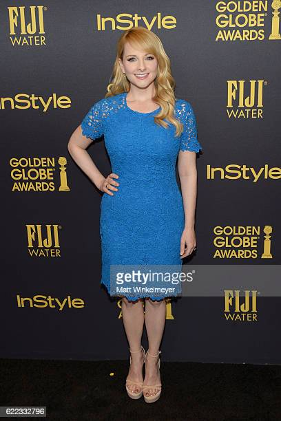 Actress Melissa Rauch arrives at the Hollywood Foreign Press Association and InStyle celebrate the 2017 Golden Globe Award Season at Catch LA on...