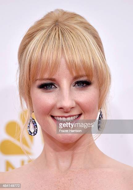 Actress Melissa Rauch attends the 66th Annual Primetime Emmy Awards held at Nokia Theatre LA Live on August 25 2014 in Los Angeles California