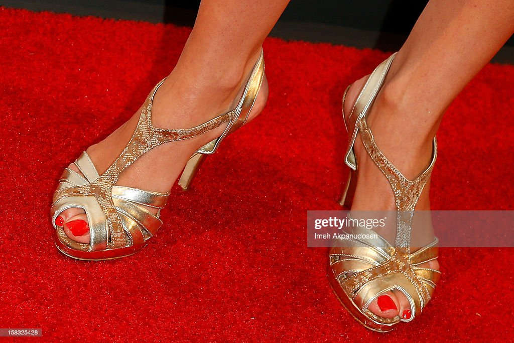 Actress Melissa Ricci (shoe detail) attends the 14th Annual Women's Image Network Awards at Paramount Theater on the Paramount Studios lot on December 12, 2012 in Hollywood, California.
