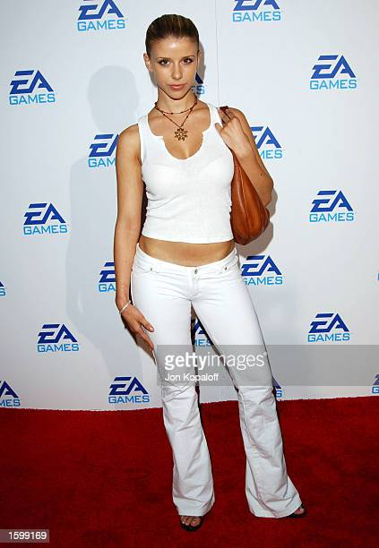Actress Melissa Schuman attends the 'EA Games' launching three new video games 'Harry Potter And The Chamber of Secrets' 'James Bond 007Nightlife'...