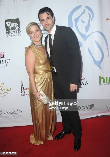 Actress Melissa Trn and actor Brett Dalton arrive for the Face Forward 8th Annual Gala held at Taglyan Cultural Complex on September 23 2017 in...