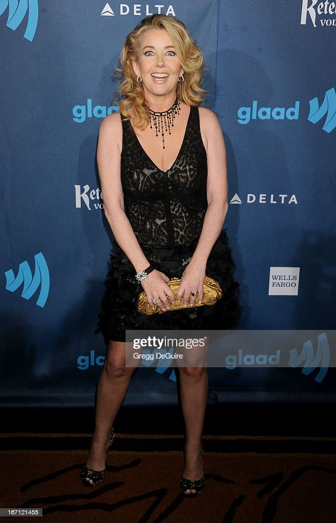 Actress Melody Thomas Scott arrives at the 24th Annual GLAAD Media Awards at JW Marriott Los Angeles at L.A. LIVE on April 20, 2013 in Los Angeles, California.