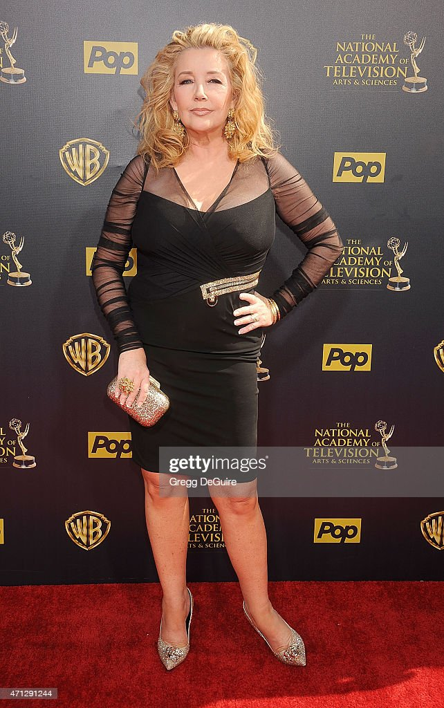 Actress Û<a gi-track='captionPersonalityLinkClicked' href=/galleries/search?phrase=Melody+Thomas+Scott&family=editorial&specificpeople=206955 ng-click='$event.stopPropagation()'>Melody Thomas Scott</a> arrives at the 42nd Annual Daytime Emmy Awards at Warner Bros. Studios on April 26, 2015 in Burbank, California.