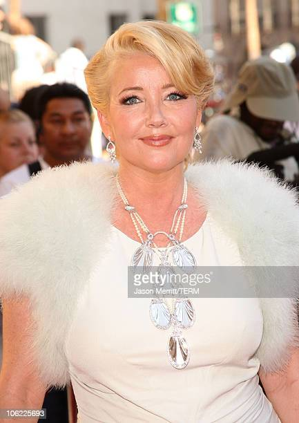 Actress Melody Thomas Scott arrives to The 35th Annual Daytime Emmy Awards at the Kodak Theatre on June 20 2008 in Los Angeles California