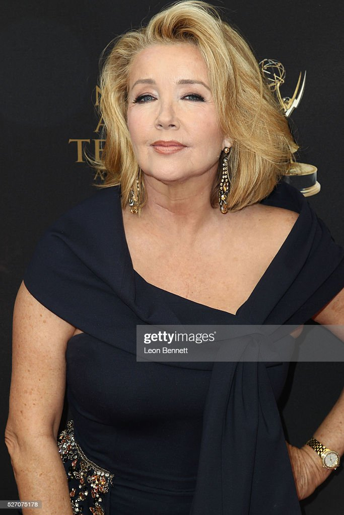 Actress Melody Thomas Scott attends the 2016 Daytime Emmy Awards - Arrivals at Westin Bonaventure Hotel on May 1, 2016 in Los Angeles, California.