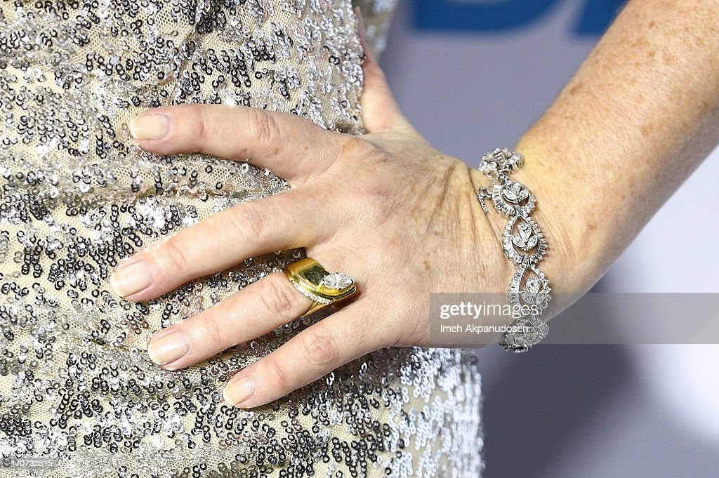 Actress Melody Thomas Scott (ring and bracelet detail) attends The 40th Annual Daytime Emmy Awards After Party at The Beverly Hilton Hotel on June 16, 2013 in Beverly Hills, California.