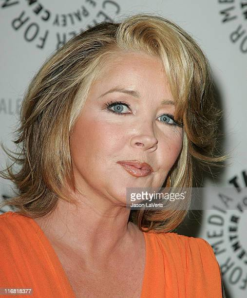 Actress Melody Thomas Scott attends the Young and the Restless 35th Anniversary at the Paley Center on April 10 2008 in Beverly Hills California
