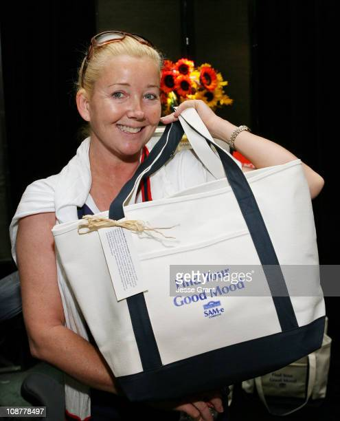 Actress Melody Thomas Scott poses in the Daytime Emmy Awards official gift lounge produced by On 3 Productions held at the Kodak Theatre on June 20...